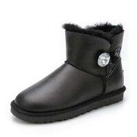 Top Quality 100 Sheepskin Leather Winter Warm Boots Waterproof Women Snow Boots Natural Fur Women