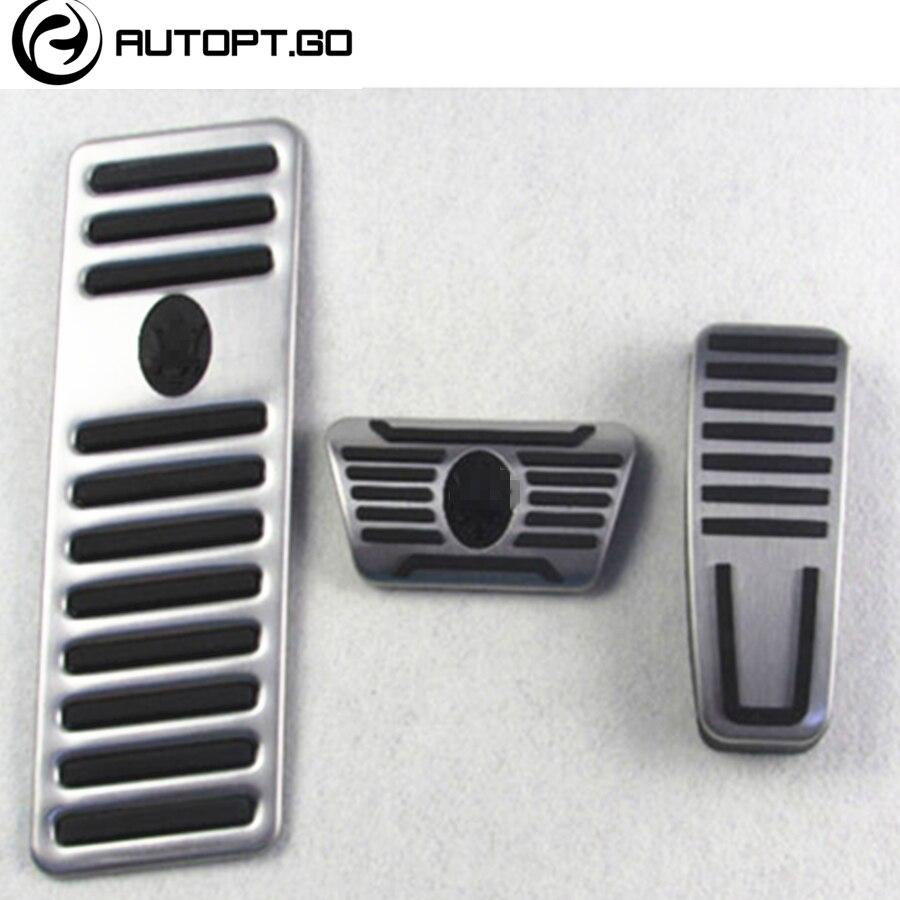 Autoptgo Original Car Foot Gas Brake Pedal Pad Cover W/ Rest Pedals For Maserati Ghibli Quattroporte Levante 2014 2015 2016 2017