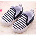 Stripe Slip On Baby Boy Sneakers Soft Sole Baby Girl Shoes First Walkers 0-12 Months