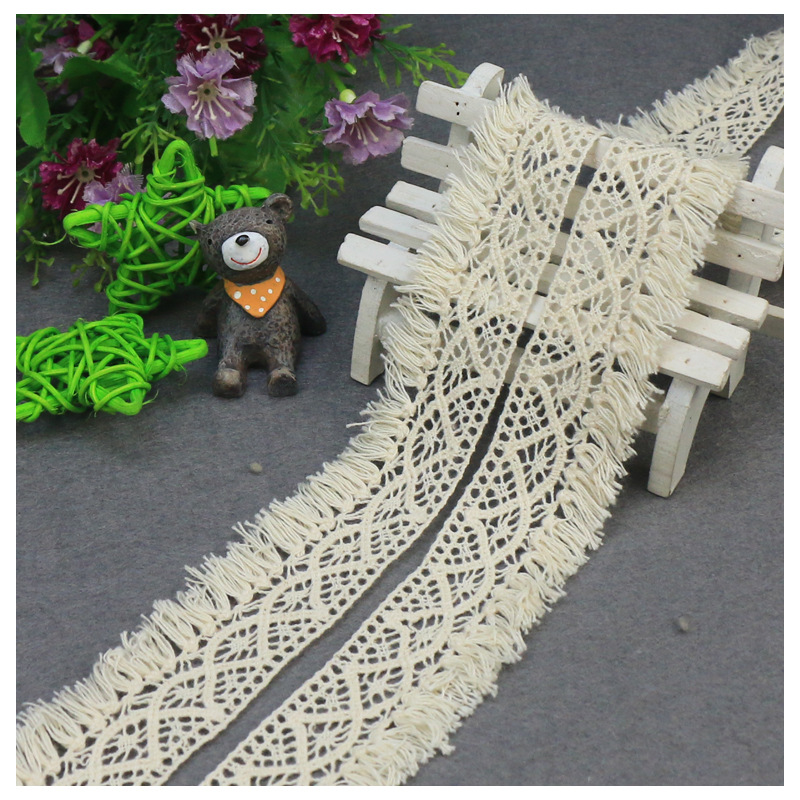 5yards/lot 3.8cm Cotton Lace  Wrap Knitting Embellishments DIY Patchwork Crafts Lace Trims Scrapbooking