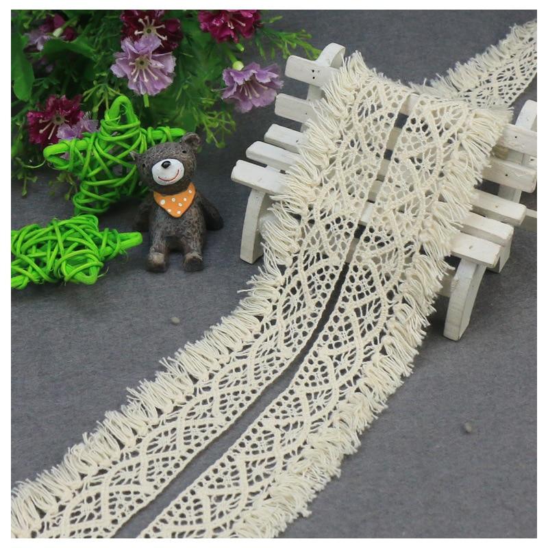 5yards/lot 3.8cm Cotton Lace  Wrap Knitting Embellishments DIY Patchwork Crafts Lace Trims Scrapbooking