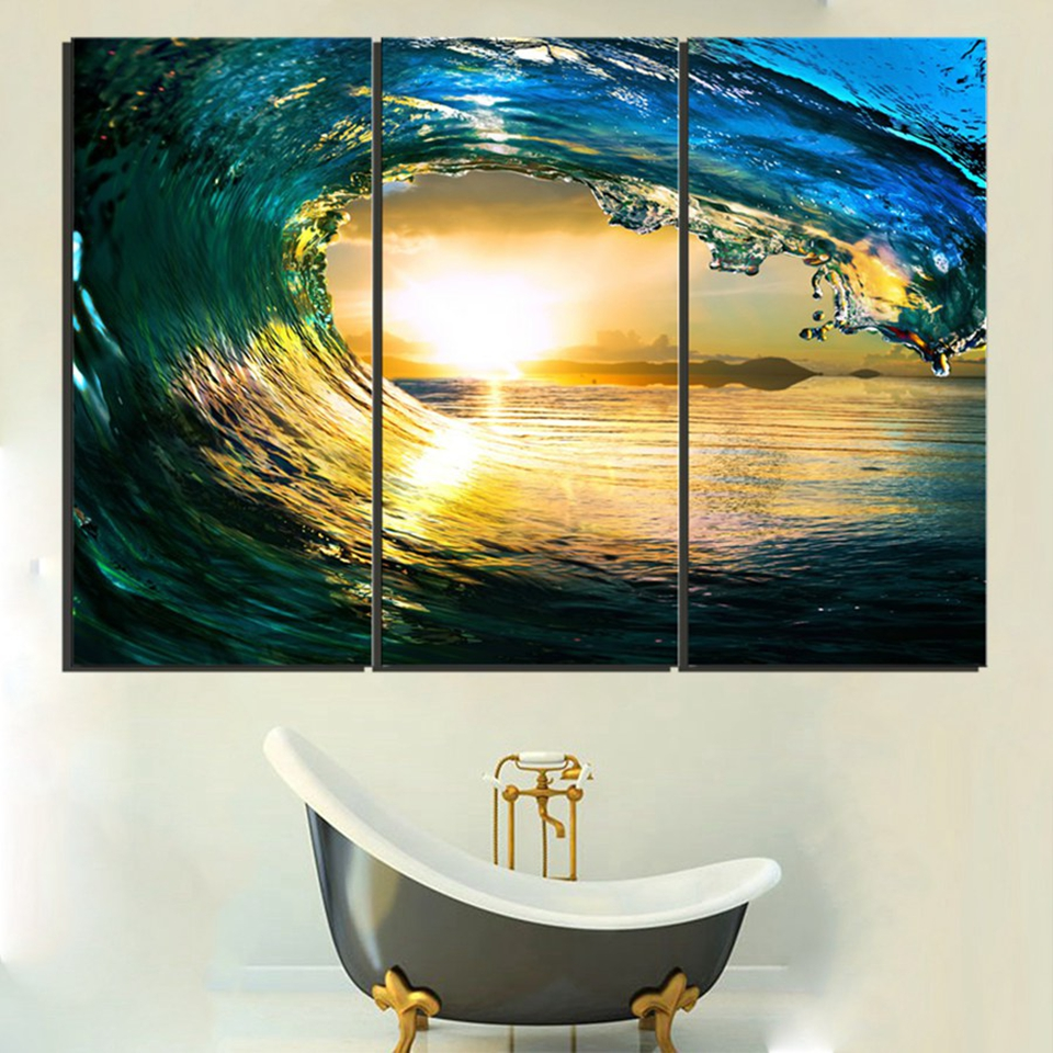 Modern Canvas Wall Art Poster HD Printed Pictures Frame 3 Piece ...