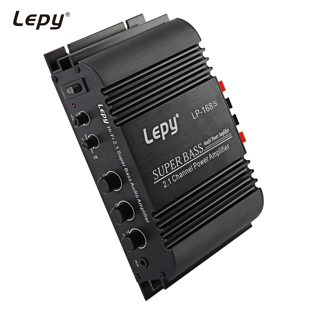 Lepy LP-168S LP168S 2.1 Channel Mini Hi-Fi Stereo Super Bass Audio Amplifier Auto Audio Car Amplifier with AUX Function