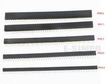 10PCS 2.54mm 1X40P Female Header Single Row Straight 0.1