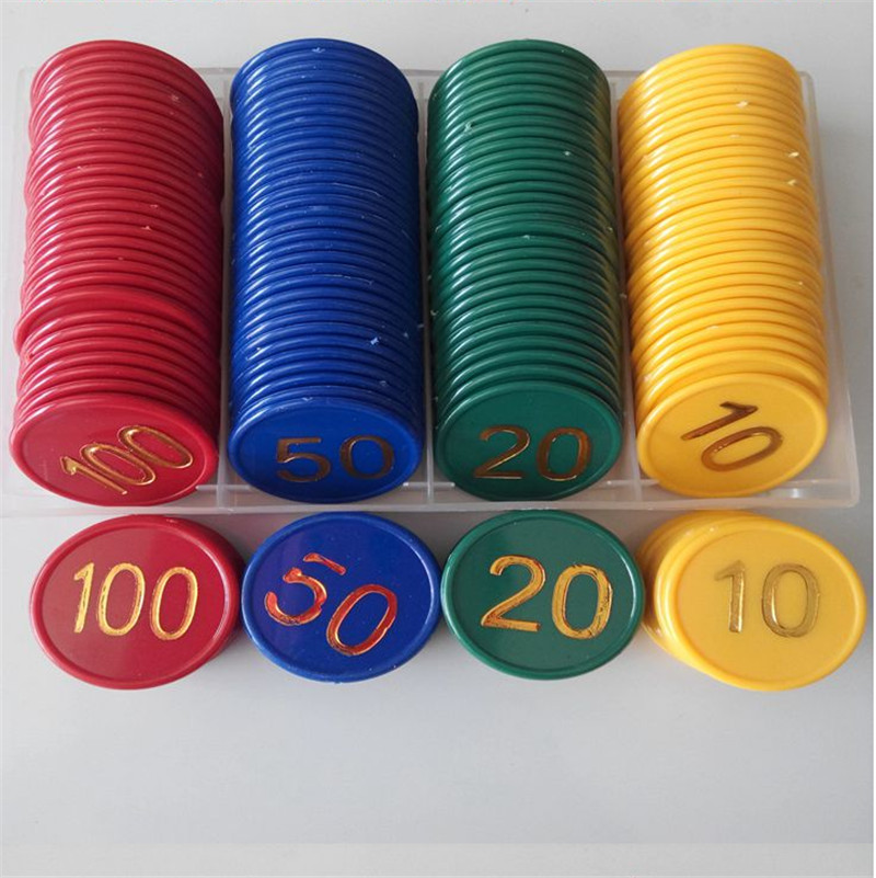 160pcs-plastic-font-b-poker-b-font-chip-value-10-20-50-100-large-numbers-printing-for-gaming-tokens-plastic-coins-yellow-green-red-blue