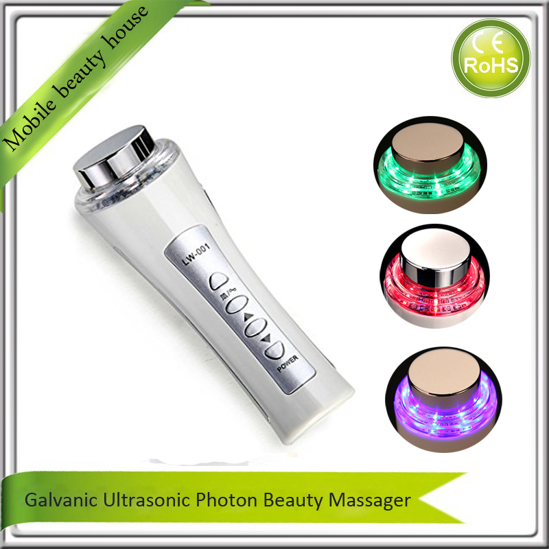 Mini Handheld Rechargeable Ultrasonic Facial Pores Cleaner Skin Tightening Firming Rejuvenation Led Photon Beauty Device 4 in 1 skin whitening tightening face lifting firming green blue red yellow electric led photon therapy facial beauty device