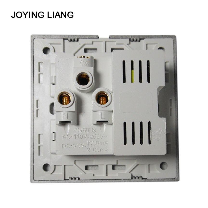 Joying Liang Black USB Socket 110 250V 10A Wall Outlet Panel USB ...