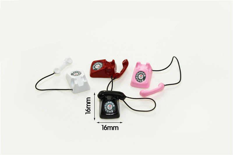 1:12 весы BJD мини домашний проводной телефон кукольный домик Миниатюрная игрушка кукла еда кухонные аксессуары для гостиной