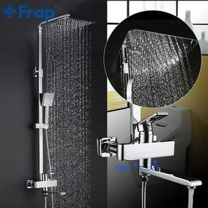 Image 1 - FRAP Tắm Hệ Thống Mới Đến Tắm Phối Phòng Tắm Sen Tắm Vòi Với Mưa Bảng Điều Khiển Bộ Thác Nước Vòi Tapware