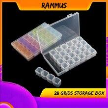 28 слотов пластиковые цветные стразы для дизайна ногтей SMD IC винты гайки электрик ящик для хранения инструментов чехол-органайзер для макияжа рыболовные инструменты