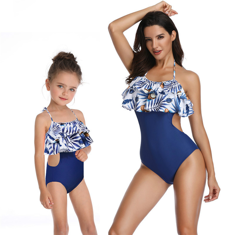 23bb6f81 Mother and Daughter Swimsuit Mommy and Me Swimwear Bikini Family Matching  Clothes Outfits Look Mom Mum Baby Dresses Clothing