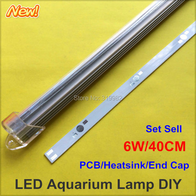 10 Sets Lot Led Aquarium Light Rigid Strip Bar 40cm 6w Diy Set For
