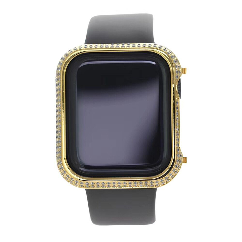 Luxury Casing For Apple Watch Series 4 Cases Crystal Diamond Watch Case For Apple Watch Shell Cover For Apple Watch Series 1 2 3 in Watchbands from Watches