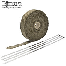 10M Motocross Exhaust Muffler Pipe Header Heat Resistant Exhaust Wrap With Stainless Steel Cable Ties For Yamaha Honda Kawasaki