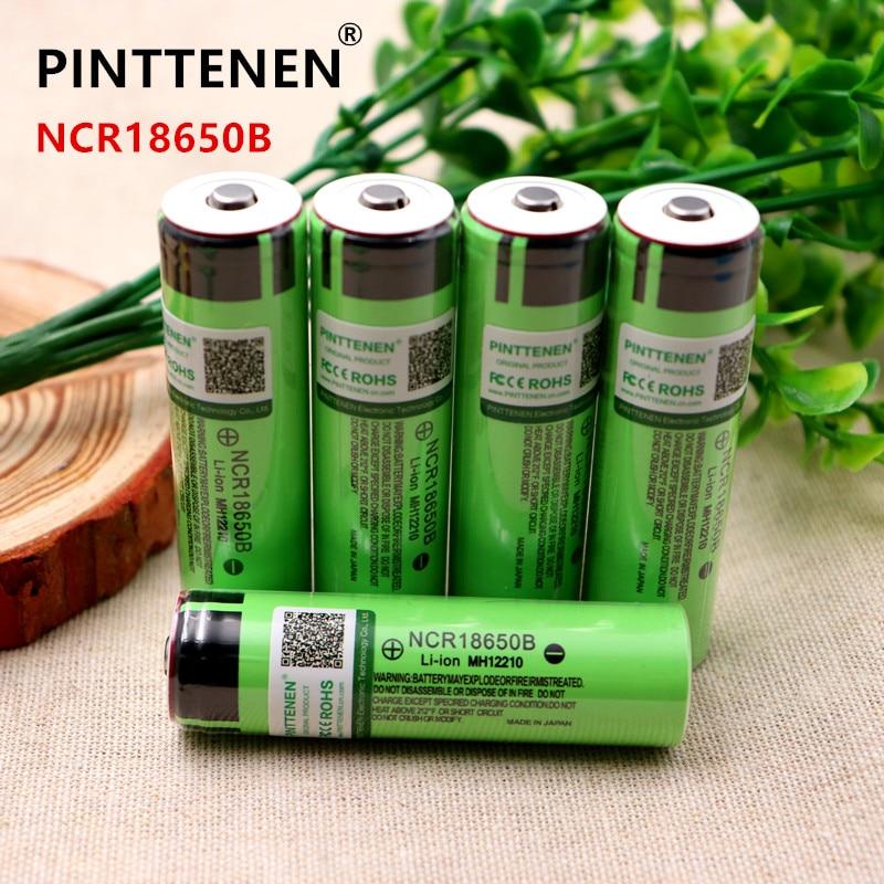 2PCS Original 18650 3400mAh battery 3.7V Li-ion Rechargebale battery For panasonic NCR18650B for Flashlight Electric toys