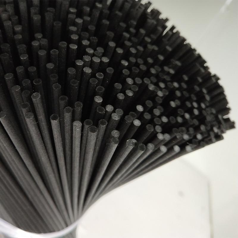 1000 Teile/los 22 Cm X 3mm Faser Schwarz Rattan Sticks Ätherisches öl Reed Diffuser Sticks Aromatischen Sticks Schlafzimmer Schmücken