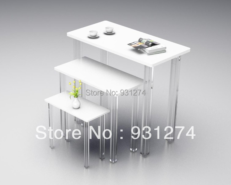 Free Shipping 2014 New Modern Fashion Brand acrylic 3pcs/1 set nest nesting coffee table Living room side table sofa table