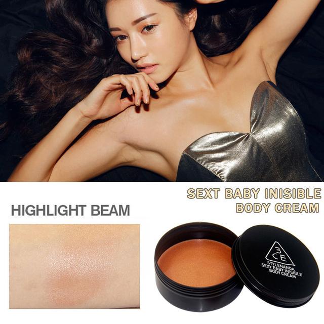 Sexy corpo brilho creme brilho loção a pele radiante brilho Bronzer contorno corporal cosméticos feixe destaque 60 g
