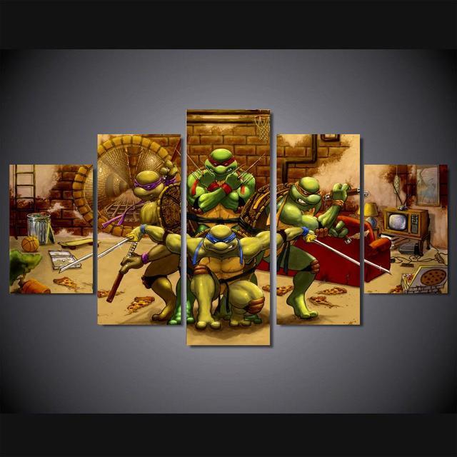 Unframed teenage mutant ninja turtles Painting Canvas Print room ...