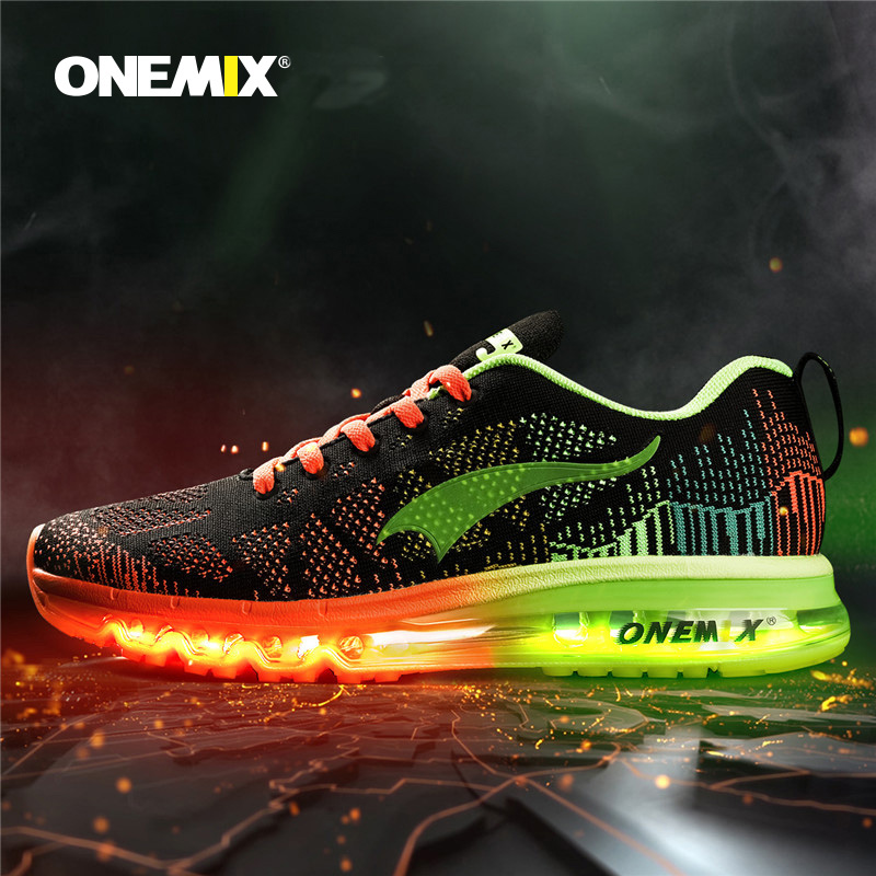 Onemix Music Rhythm Men Sports Shose Running Sneakers Breathable Mesh Outdoor Sports Shoes Light Women Sport Shoes Size39-46 apple summer new arrival men s light mesh sports running shoes breathable fly knit leisure comfortable slip on sneakers ap9001