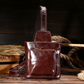 Leather male chest shoulder bag shoulder bag layer of leather oil skins oblique cross package retro leisure chest bag