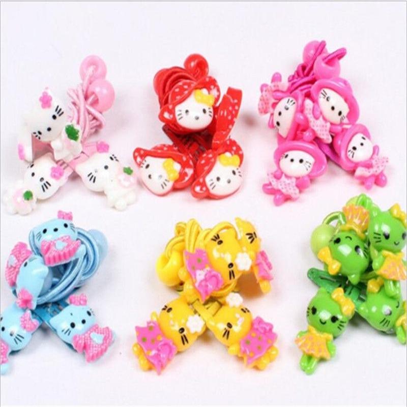 2016 Fashion Hello Kitty Hair Accessories Baby Headband Kids Cute Hair Clip Elastic hair Bands Headbands Kawaii Hairpin For Girl