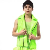 Jazz Dance Costumes Green Cheerleader Dancing Uniforms Jacket Streetdance Clothes Male Dancer Coat Adults Singer Show Wear DT788