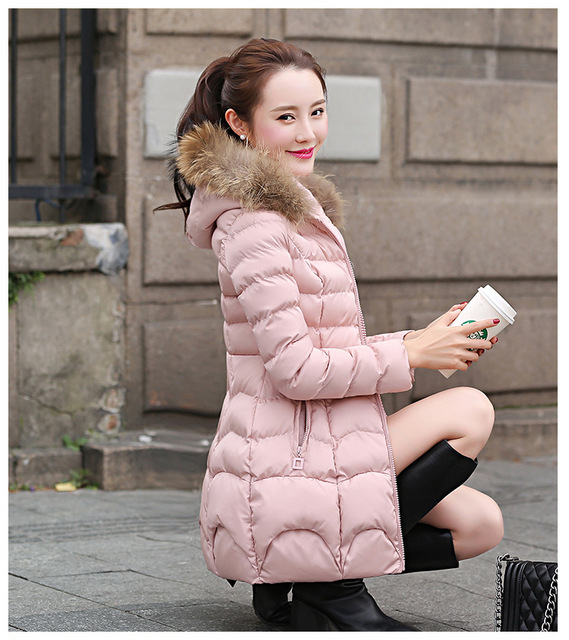 2018 The new Korean version of the long style cap coat FF104 2