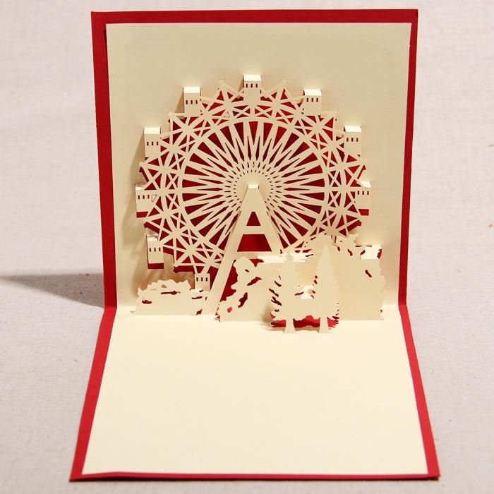 3d greeting card handmade 3d pop up ferris wheel greeting card 3d greeting card handmade 3d pop up ferris wheel greeting card with envelope christmas favors on aliexpress alibaba group m4hsunfo