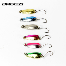 DAGEZI 6pcs/lot 4.5cm/3g fishing lure 6 colours Shell Texture steel Lure fishing bait spoon lures  fishing deal with pesca