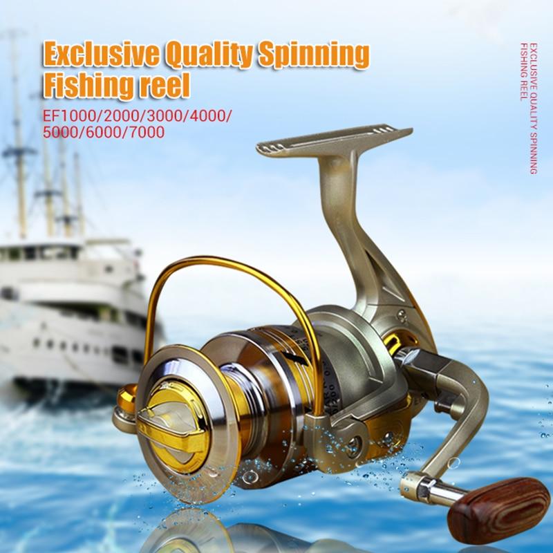 Eksklusiivne kvaliteet Kõigist metallist spinninguga kerimisrulli kerimisriba kiiruse suhe 5,1: 1 ookeani mere paadiga Rock Ice püügivahend EF