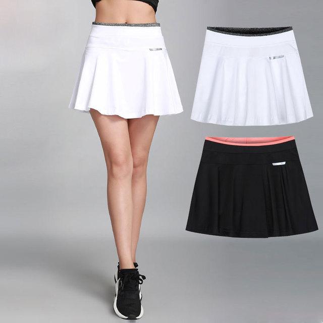 a1191e03a7 Women & Girl Pleated Tennis Skirt With Safety Pants Stretch High Waist  Sport Skirt Casual Skort