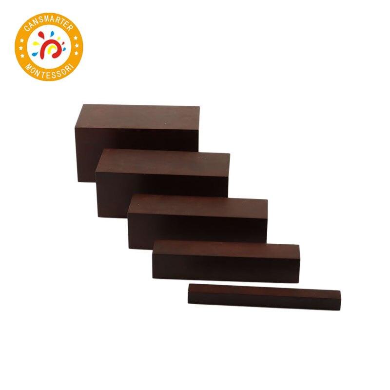 Montessori Materials Baby Toys Brown Stair 5 Steps Preschool Training Kid Toy - 3
