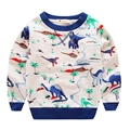 Baby Boys Sweatshirts 2016 New Dinosaur Printed Hoodies Cotton Long Sleeve Cute Kids Shirts Outwear Autumn Clothing 3-7T GT33