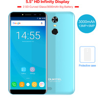 OUKITEL C8 5 5 18 9 Infinity Dispaly Curved 3G Mobile Phone Android 7 0 Quad