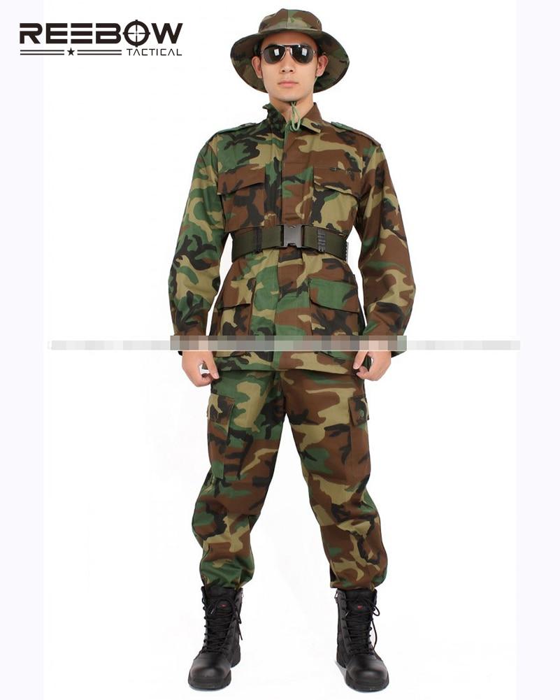 ФОТО USA ARMY MC Camouflage Coat Pants Uniform Men Woodland Set of Jacket Trouser Military Training War game Combat Airsoft Training