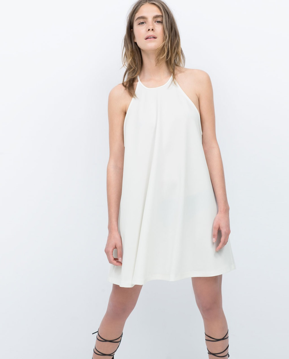 White Spaghetti Strap Summer Dress