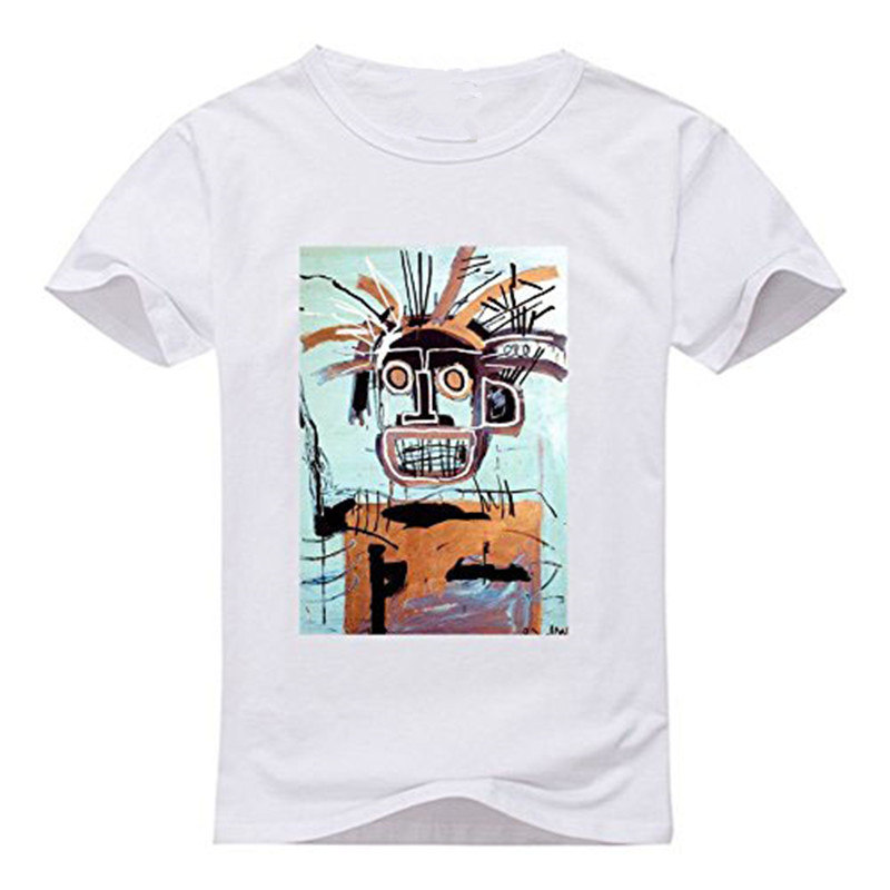 Create T Shirt Online MenS Short Jean Michel Basquiat Crew Neck Fashion 2018 Tees
