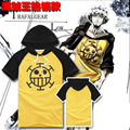High Quality One Piece Trafalgar Law Cosplay Short Sleeve T shirt hooded summer t shirt tees Cotton tops for male/female