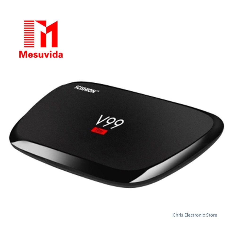 Mesuvida SCISHION V99 Star Smart TV Box Rockchip 3368 Octa Core Android 5.1 Dual Band WiFi Set Top Box 2G 16G 4K Media Player