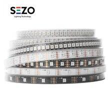 Sk9822 (apa102 semelhante) smart rgb led pixel strip dados e relógio separadamente 1m/5m 30/60/144 leds/pixels/m ip30/ip65/ip67 dc5v
