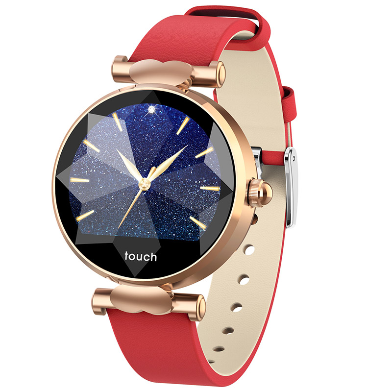 B80 Smart wristband Waterproof ip68 Bracelet watches blood pressure heart rate Leather strap for girl women gift