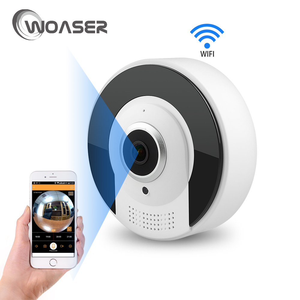 1.3MP HD FishEye IP Camera Home Security WiFi Camera Infrared Two Way Intercom 720P Body Mini Monitor Motion Detection Camera blueskysea 2k hd s60 body personal security