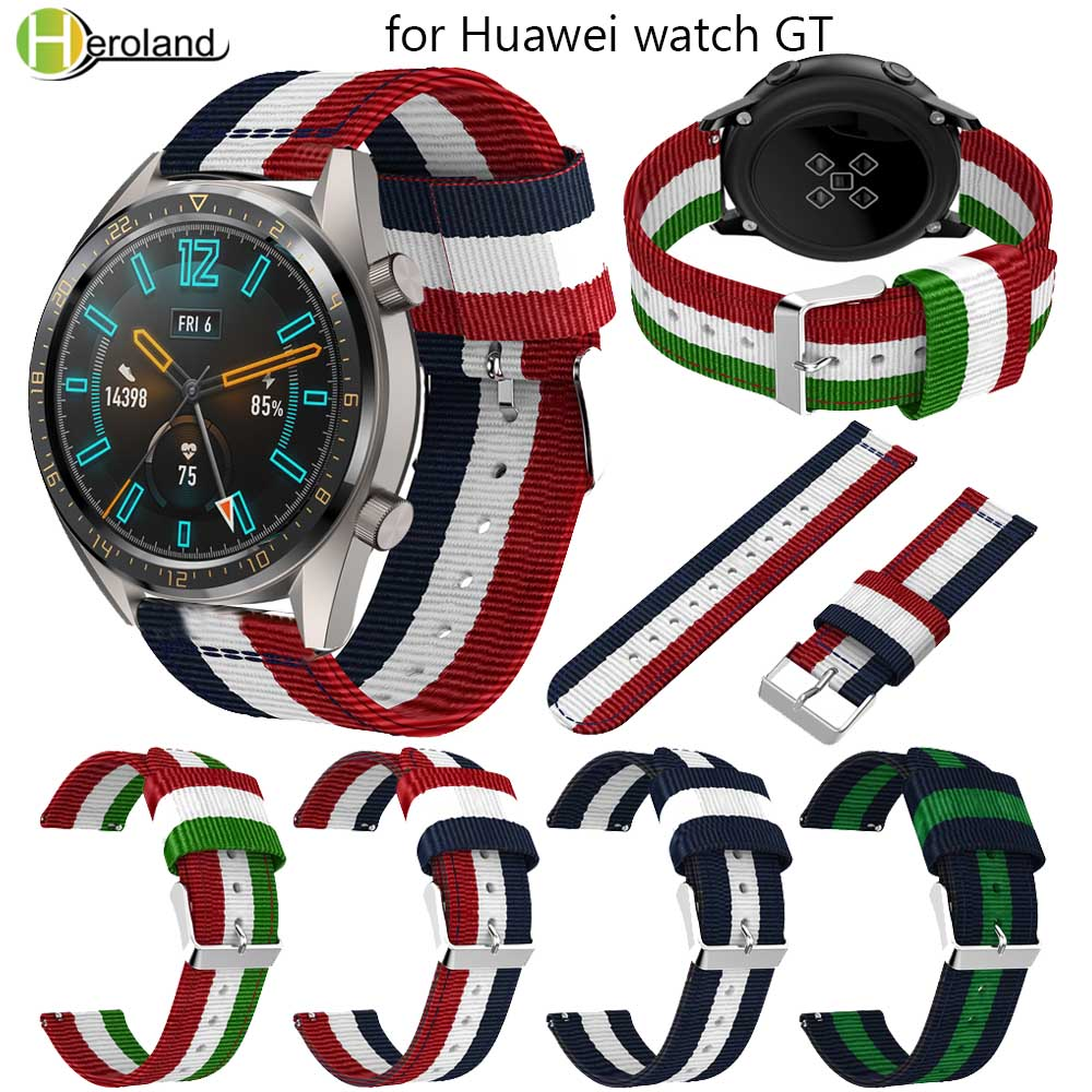 Watch Band For Huawei Watch GT/Honor Magic/PORSCHE DESIGN Sports Nylon Loop 22mm Bracelet Bands Smart Watch For Gear S3 Straps