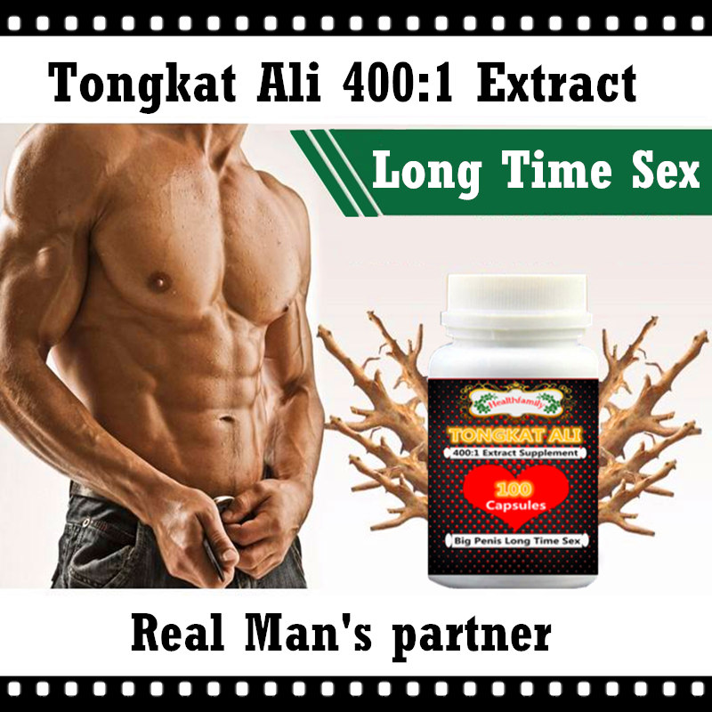 Powerful Tongkat Ali 400:1 Capsules 1 bottle 100pcs penis enlargement long time sex for men adult sex machine cekc supplemento