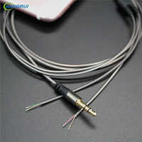 Hangrui 3.5mm DIY 3-Pole Jack Earphone Audio Cable Headphone Repair Replacement cable 14 Copper Core Wire DIY MP3 TPE fever wire