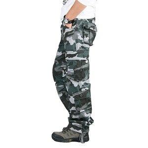 Image 2 - Autumn Winter Military Camo Pants Men Loose Cotton Army Trousers Casual Hip Hop Cargo Camouflage Pants Men Pantalon Camuflaje