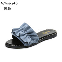 Whoholl Brand New Slippers Women Torridity Bow Torridity Sandals Slipper Indoor Outdoor -flops Beach Shoes Female Fashion Shoes цена
