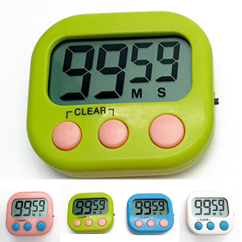 Large LCD Kitchen Cooking Timer Count-Down Up Clock Loud Alarm Magnetic Practical Cooking Timer Alarm Clock