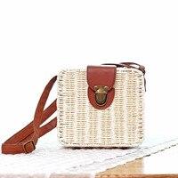 2018 Summer Women Messenger Bag Fashion beach Bag Handmade Straw Flap Bags Case Candy Color Women Shoulder Bag BL-ZFX 40% OFF